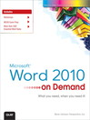 Microsoft Word 2010 On Demand (eBook)